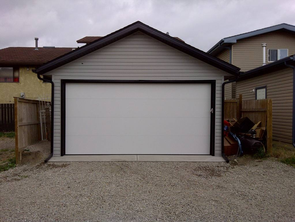 18x20 Garage Addition : Concrete garage pad calgary sidewalk contractor armour